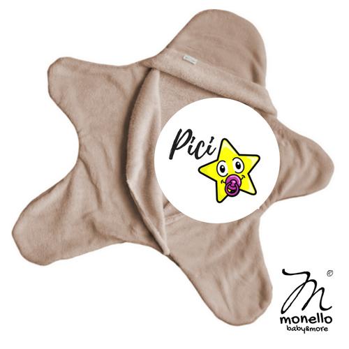 Koraszülött ruha babamelegítő picicsillag latte Monello baby&more