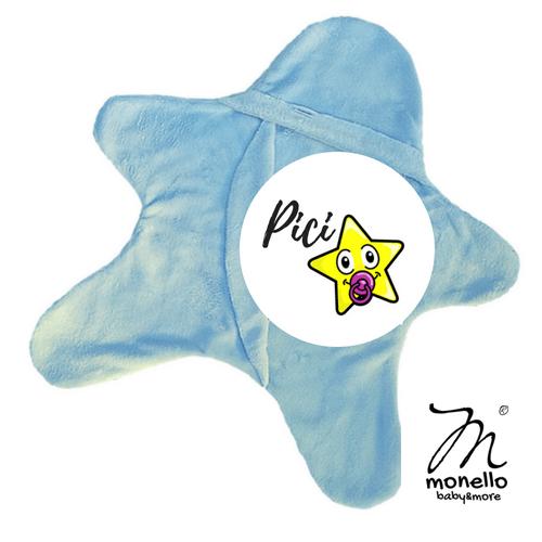 Koraszülött ruha babamelegítő picicsillag babakék Monello baby&more