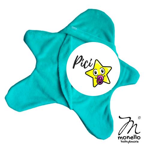 Koraszülött ruha babamelegítő picicsillag menta Monello baby&more