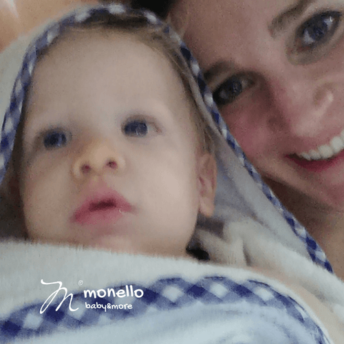 fehér monello baba törölköző
