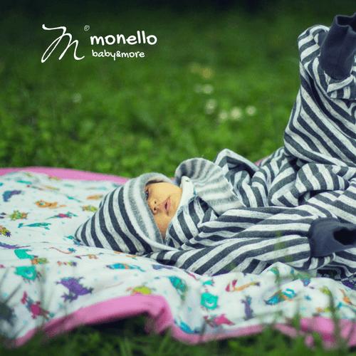 Nyári Babamelegítő Kiscsillag zebra csíkos Monello