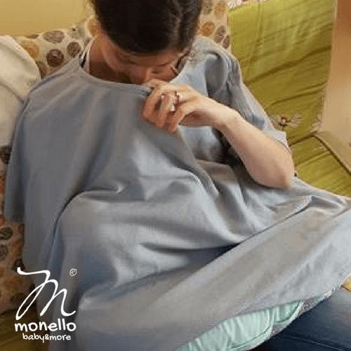 Monello szoptatós kendő cápaszürke