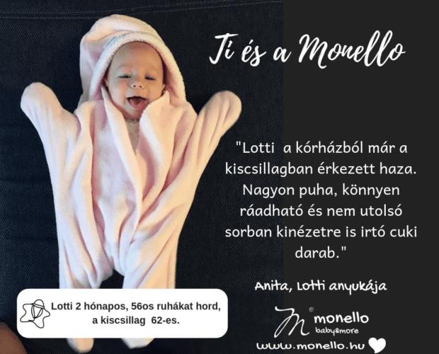 Vásárlói visszajelzések Monello Kiscsillag