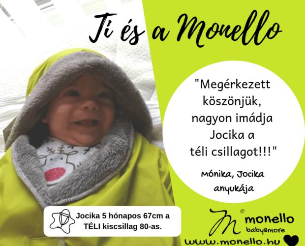 Ti és a Monello Téli Babamelegítő Kiscsillag